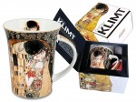 Kubek z porcelany Gustav Klimt The Kiss (czarne tło) 330ml